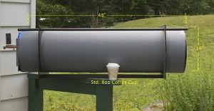 """Side View of a 48"""" Pinhole camera"""